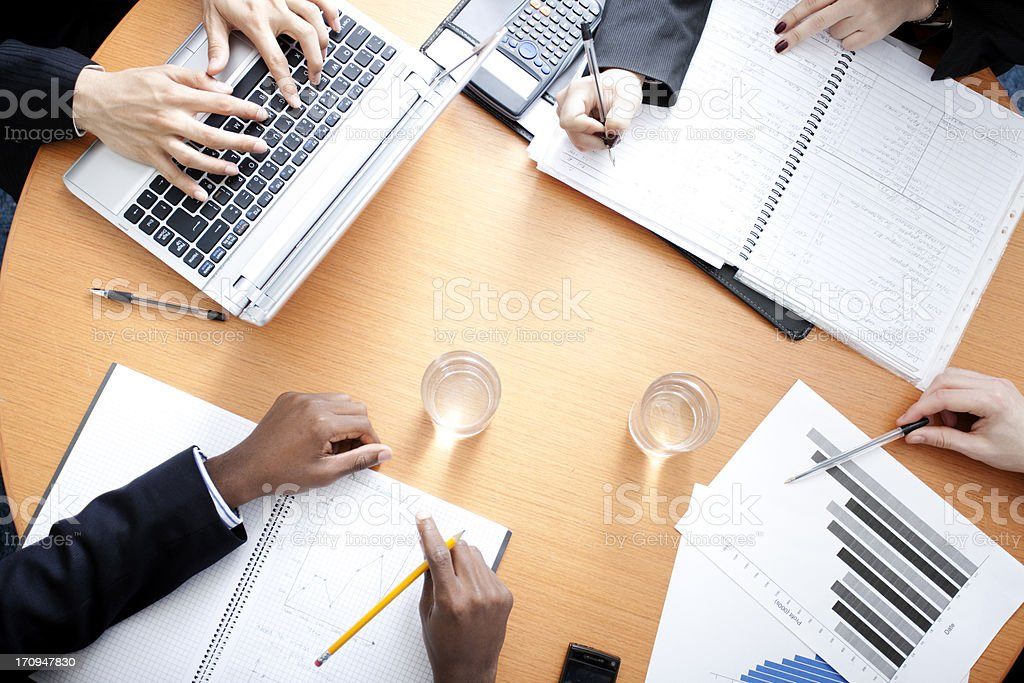 Busy day at the Office royalty-free stock photo