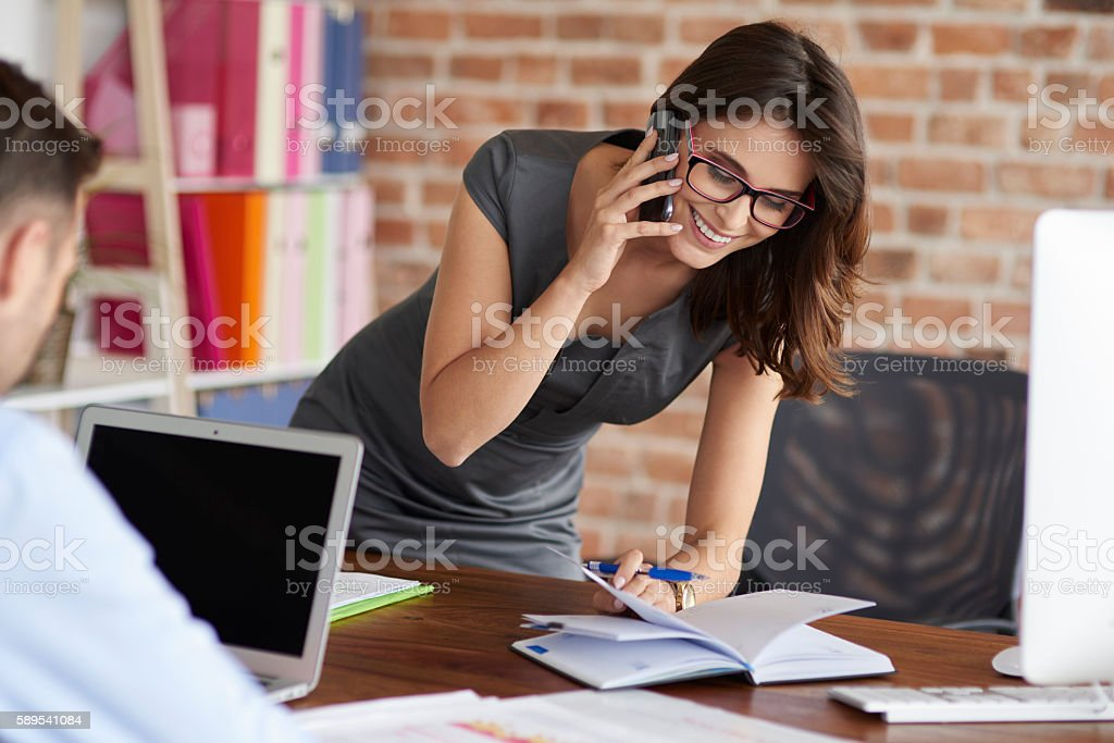 Busy day dat the office stock photo
