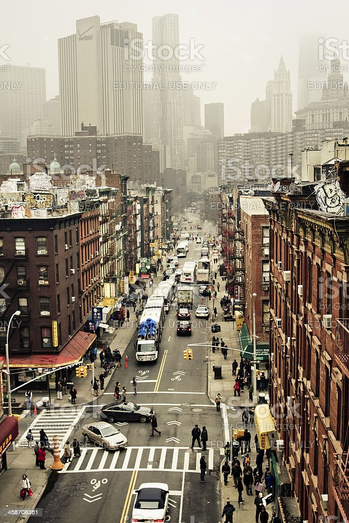 Busy day in New York royalty-free stock photo
