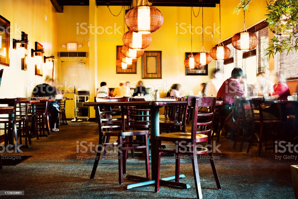 busy dinner restaurant royalty-free stock photo