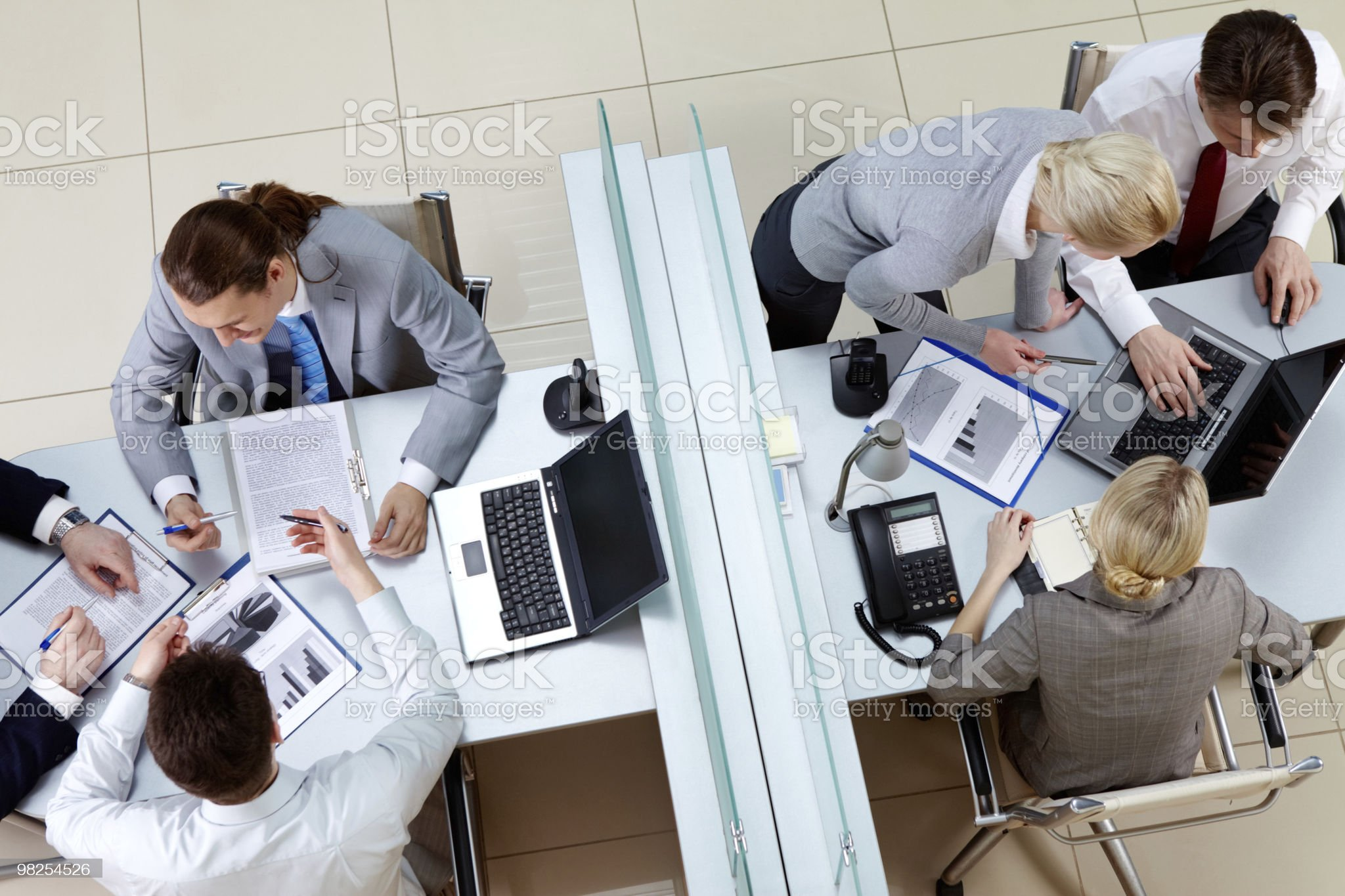 Busy employees royalty-free stock photo