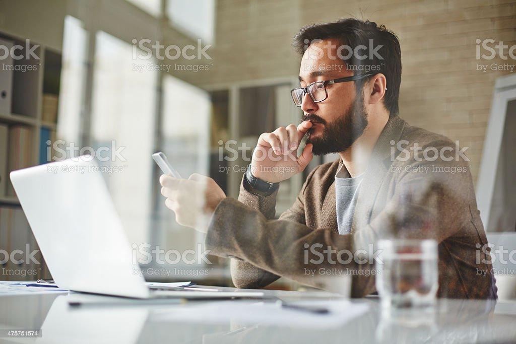 Busy entrepreneur stock photo