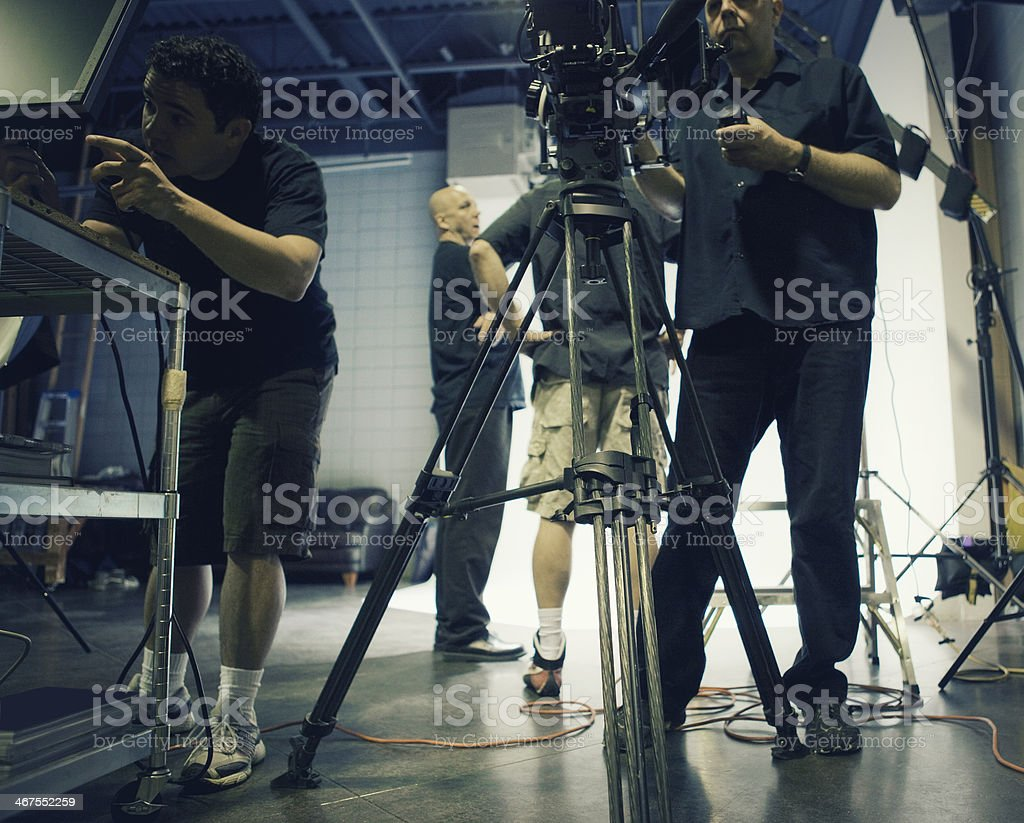 Busy Film Set stock photo