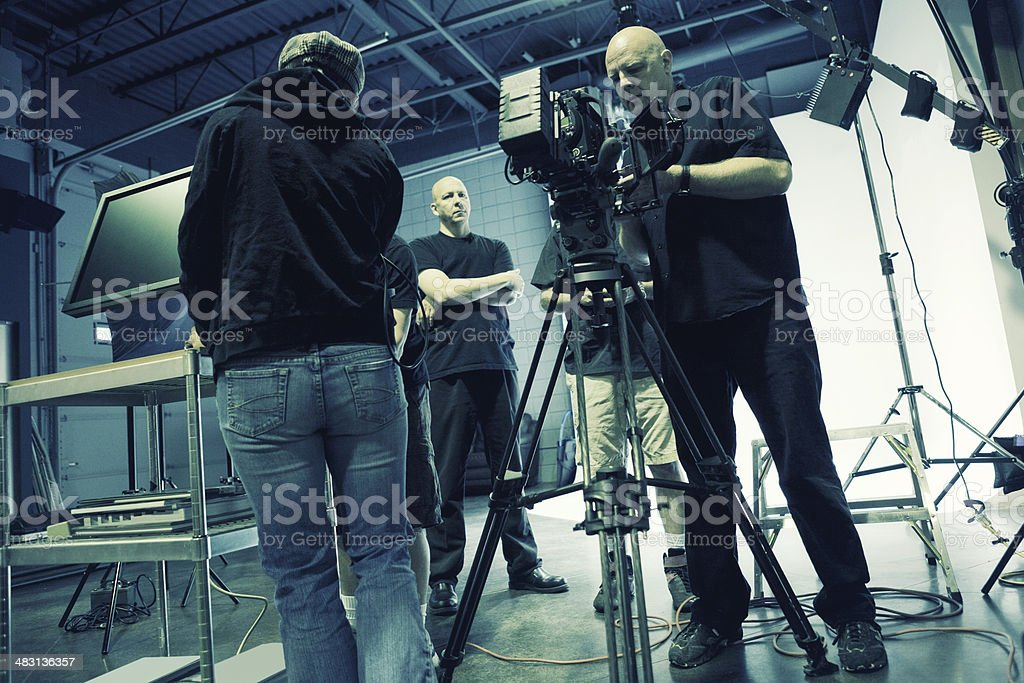 Busy Film Set royalty-free stock photo