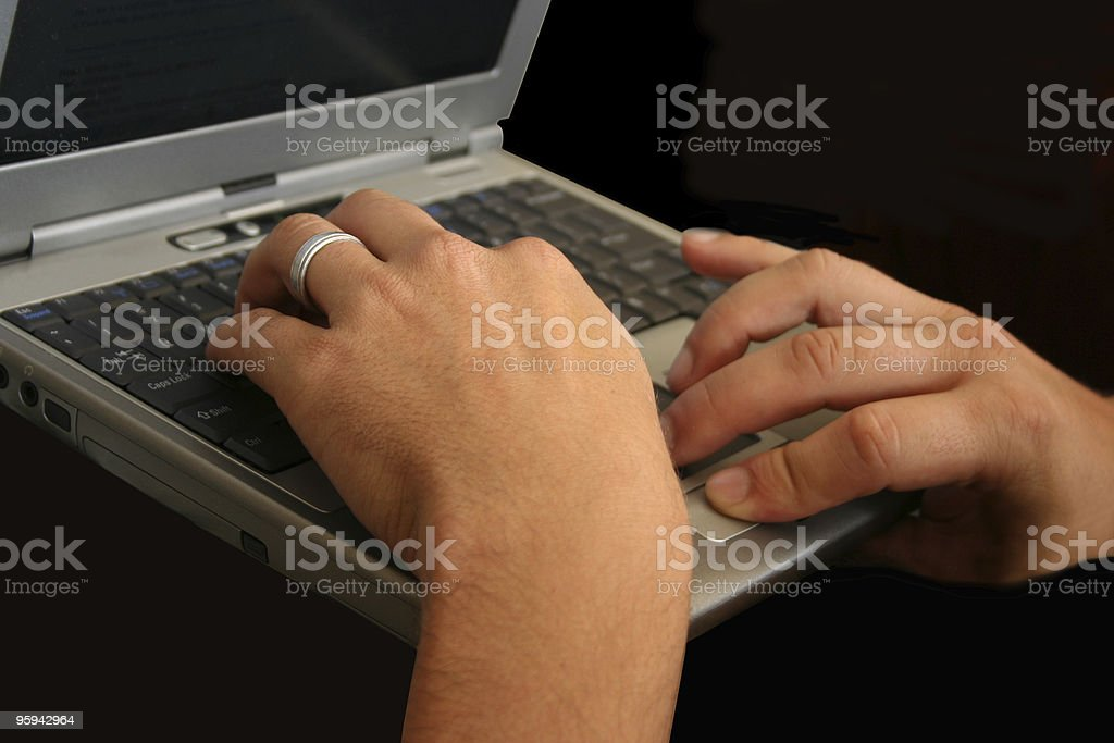 Busy Fingers royalty-free stock photo