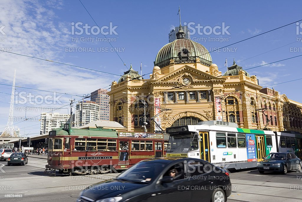 Busy Flinders Street. royalty-free stock photo
