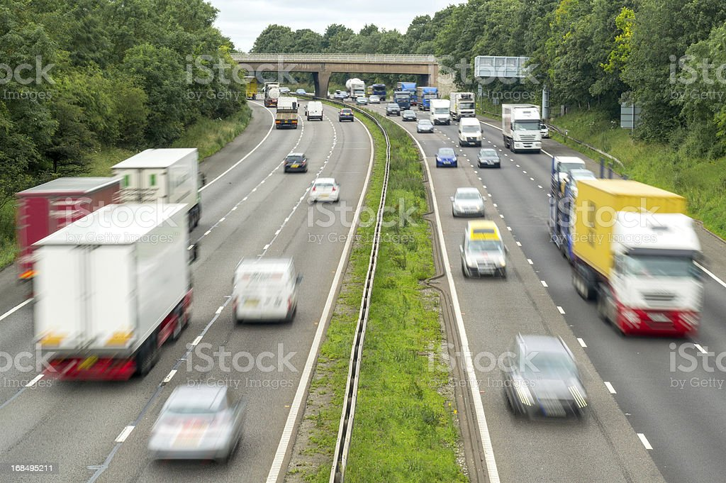 Busy Flowing Motorway stock photo