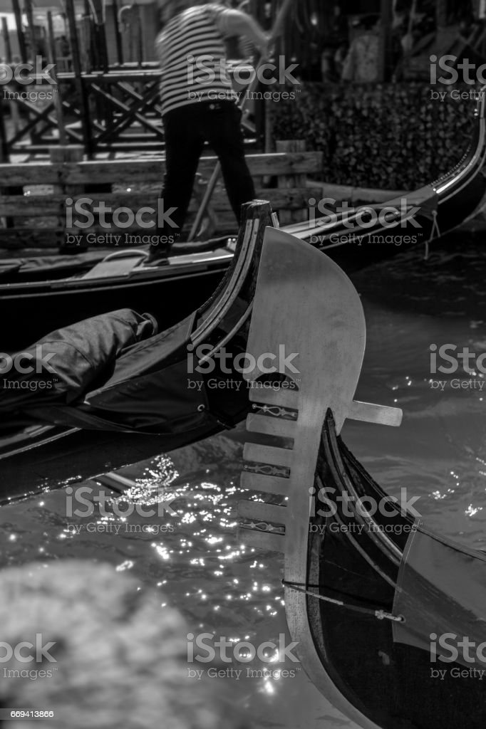 Busy Gondolas and sparkling Water. stock photo