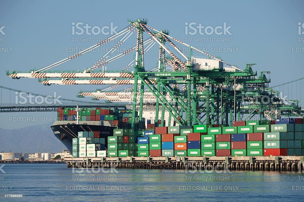 Busy Harbor Berth stock photo