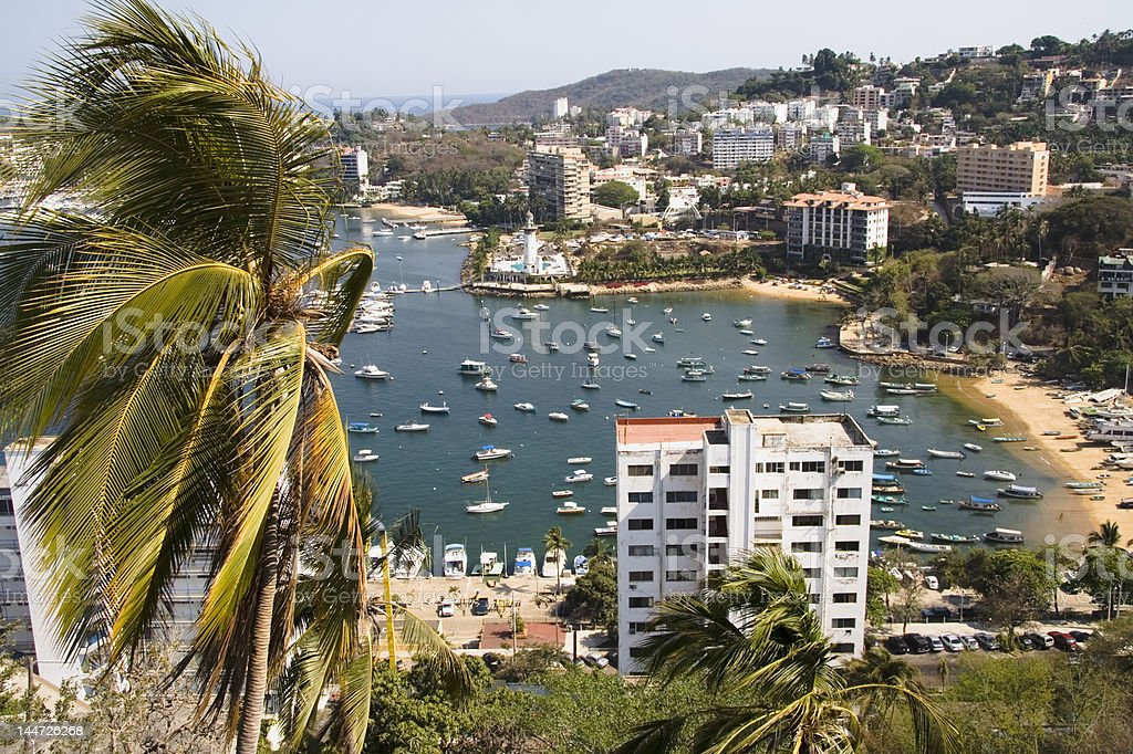 Busy Harbor in Acapulco stock photo