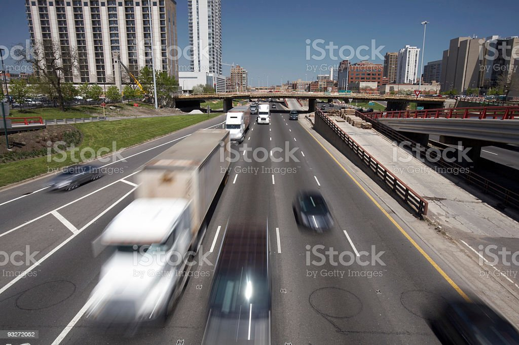 Busy Highway royalty-free stock photo