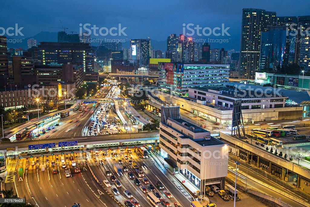 Busy Hong Kong stock photo