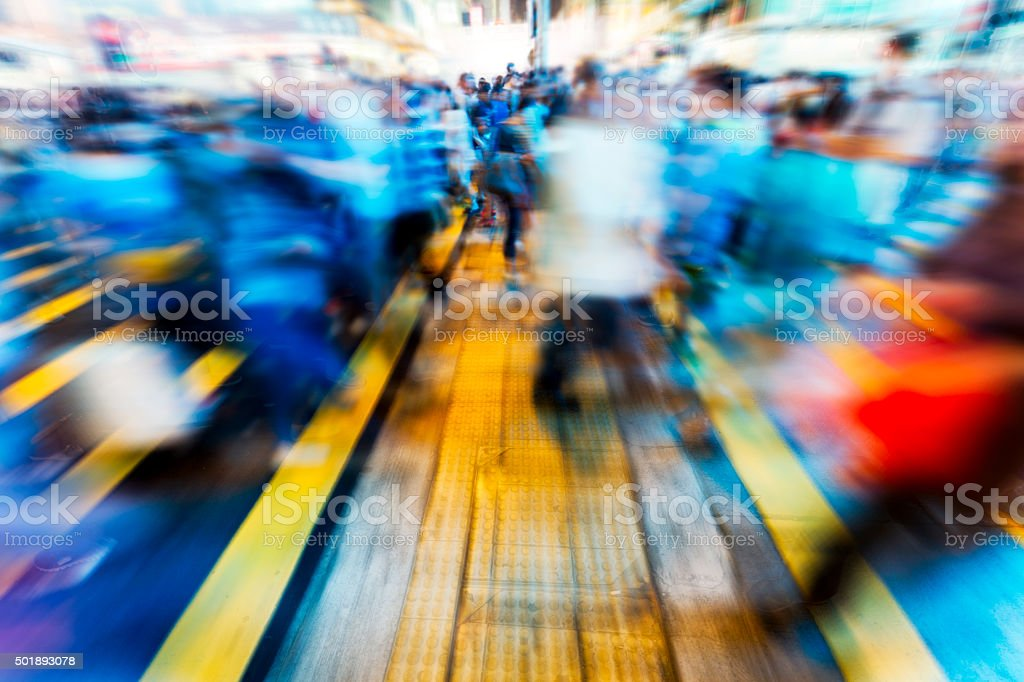 Busy Hong Kong Street stock photo