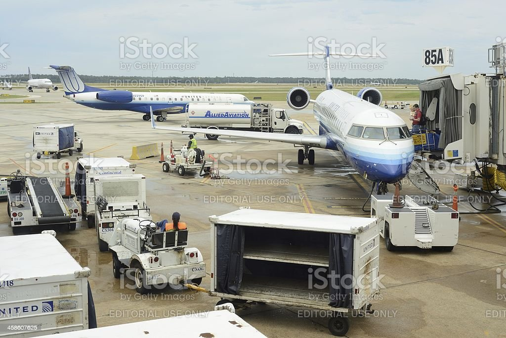 Busy Houston Airport Gate Activity royalty-free stock photo