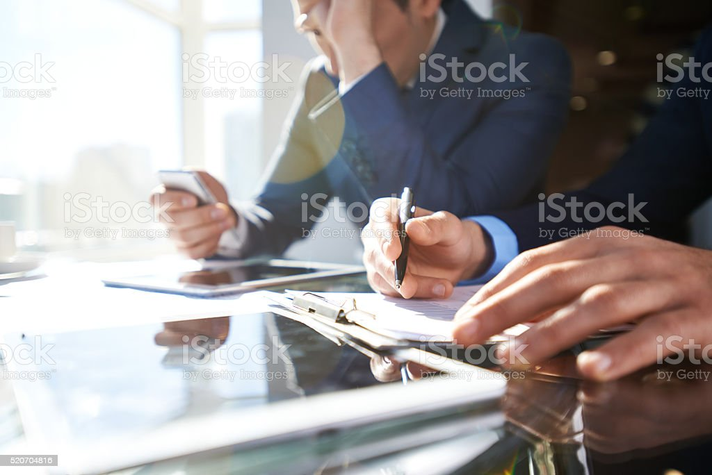Busy in office stock photo