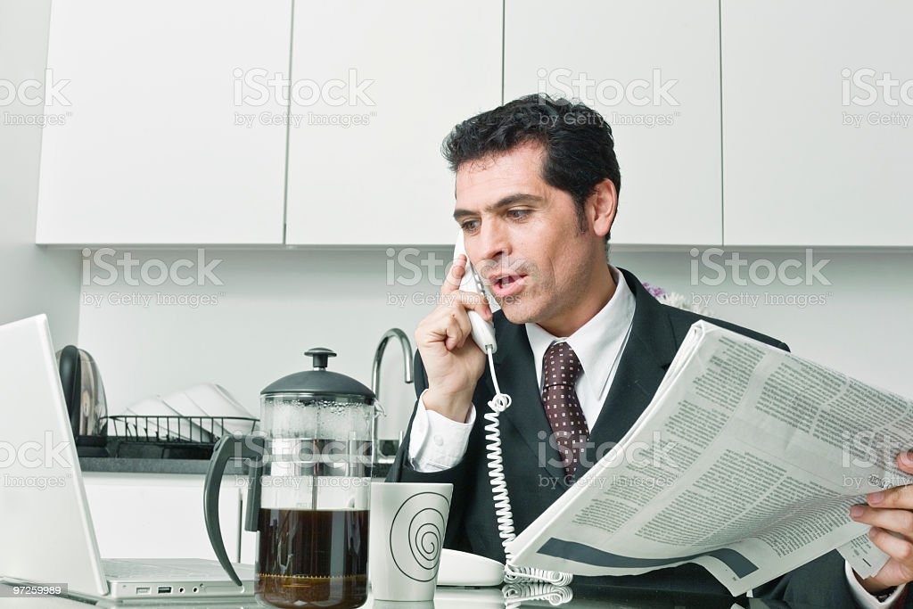 Busy in the morning royalty-free stock photo