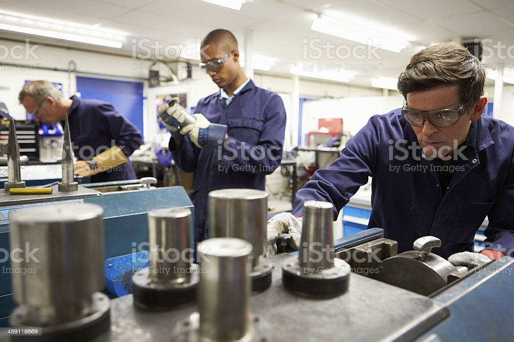 Busy Interior Of Engineering Workshop stock photo