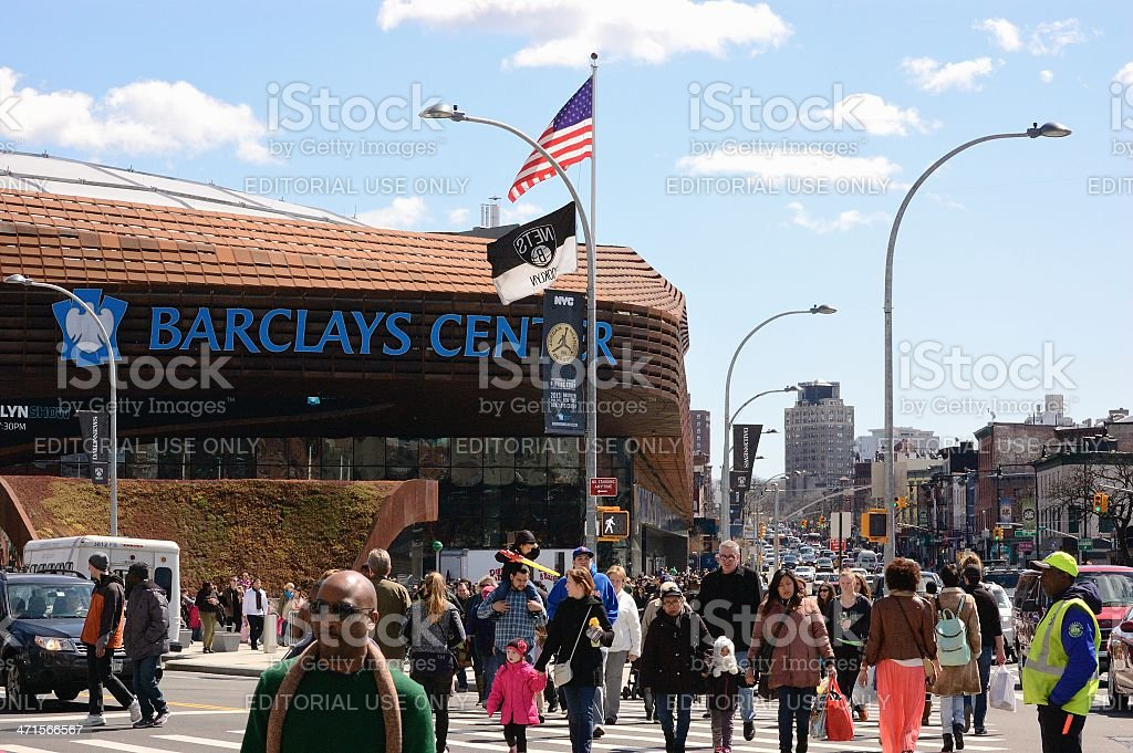 Busy Intersection in Brooklyn royalty-free stock photo