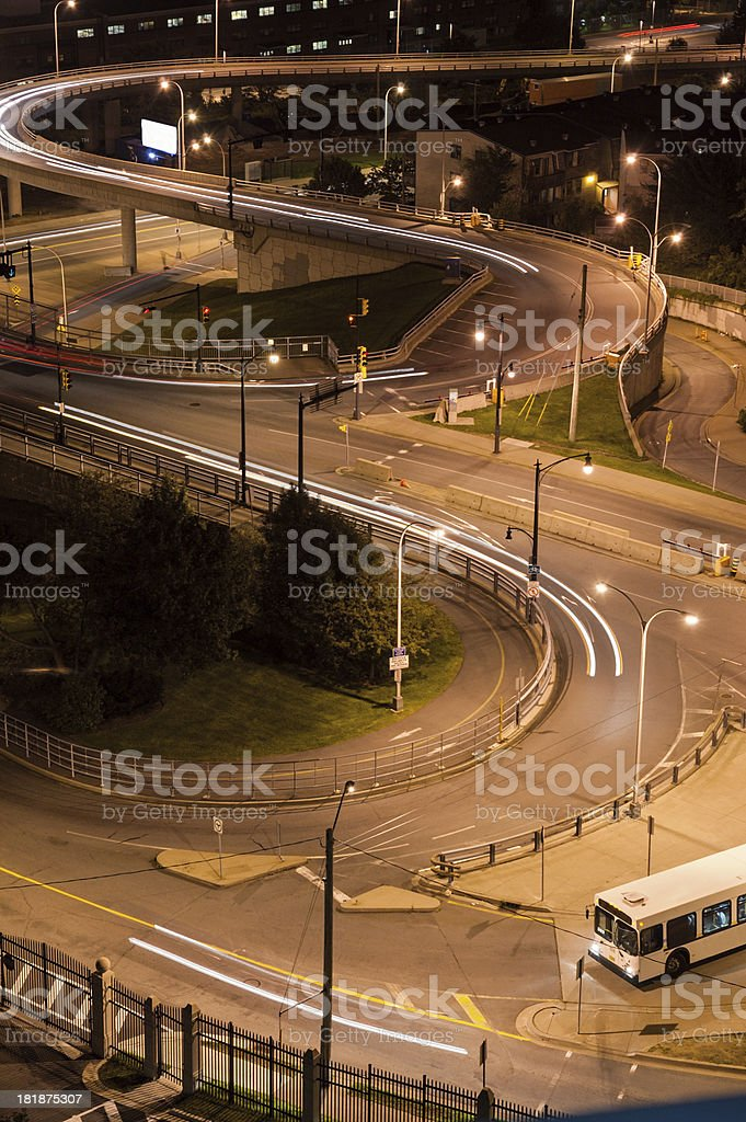 Busy Intersection royalty-free stock photo