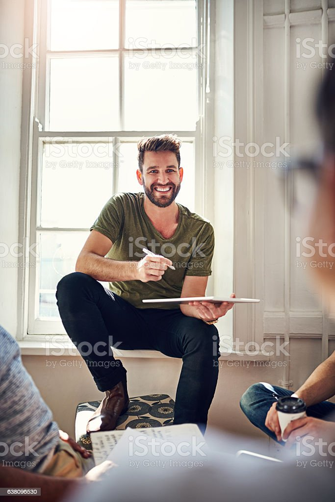 Busy is the new happy stock photo