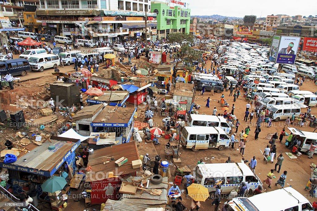 Busy Kampala Uganda stock photo