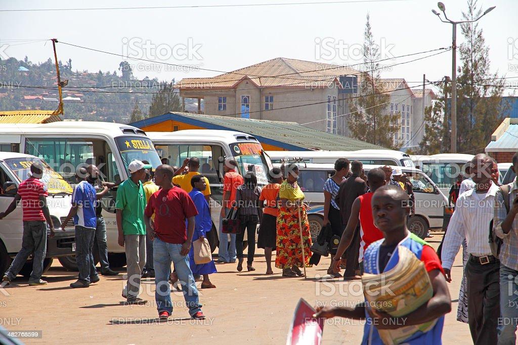 Busy Kigali Rwanda stock photo