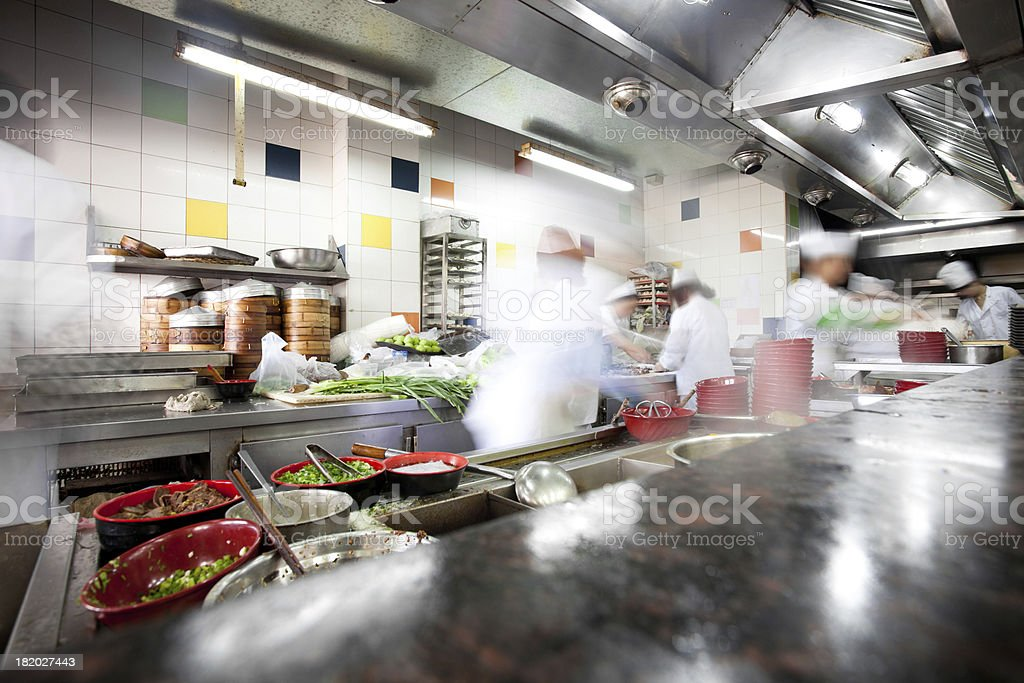 busy kitchen royalty-free stock photo
