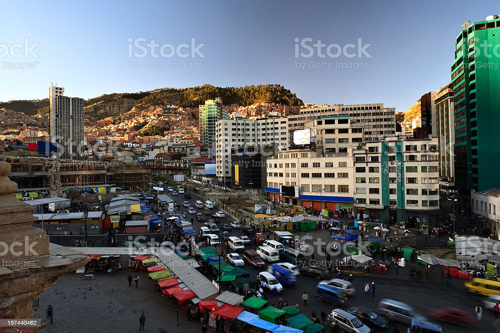 Busy La Paz royalty-free stock photo