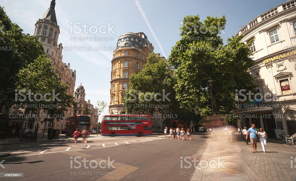 Busy London intersection stock photo