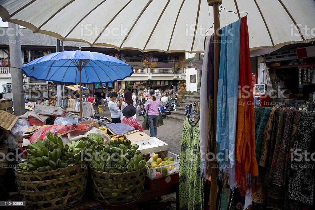Busy market in Ubud, Bali royalty-free stock photo