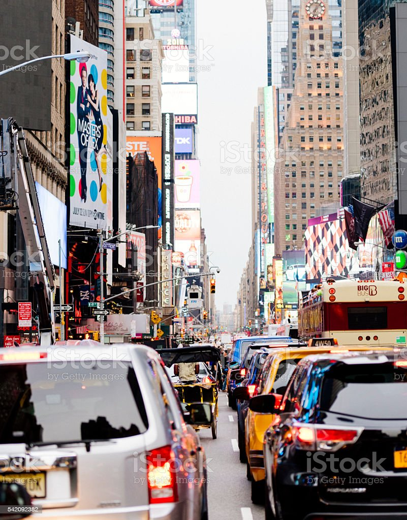 Busy midtown traffic in New York stock photo