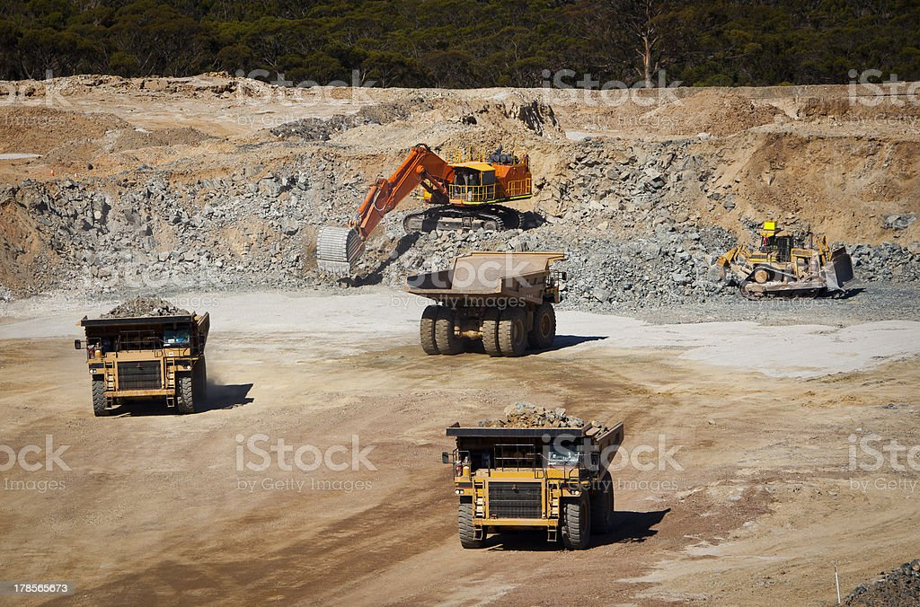 Busy Mine stock photo