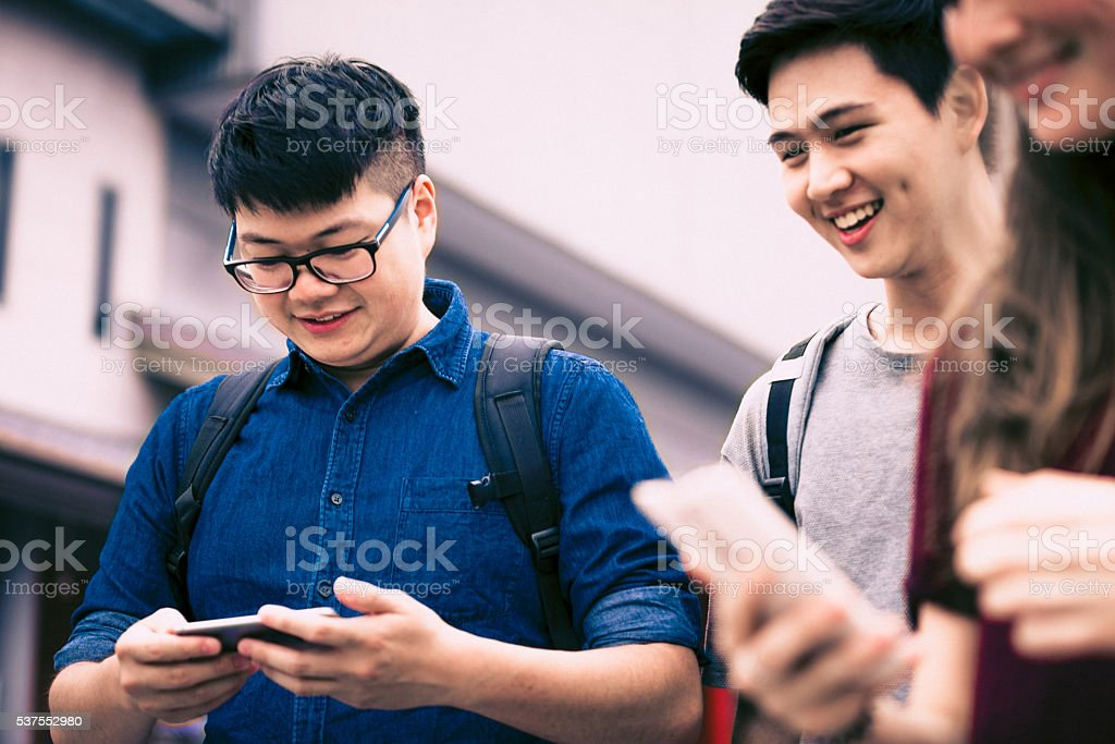 Busy Modern Student Lifestyle stock photo