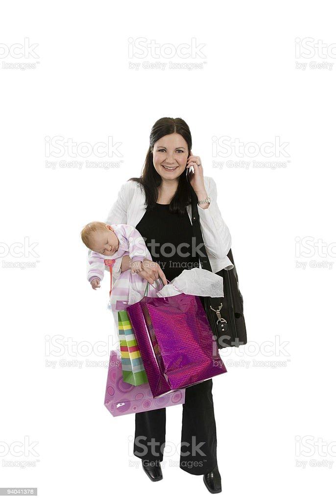 Busy Mom royalty-free stock photo