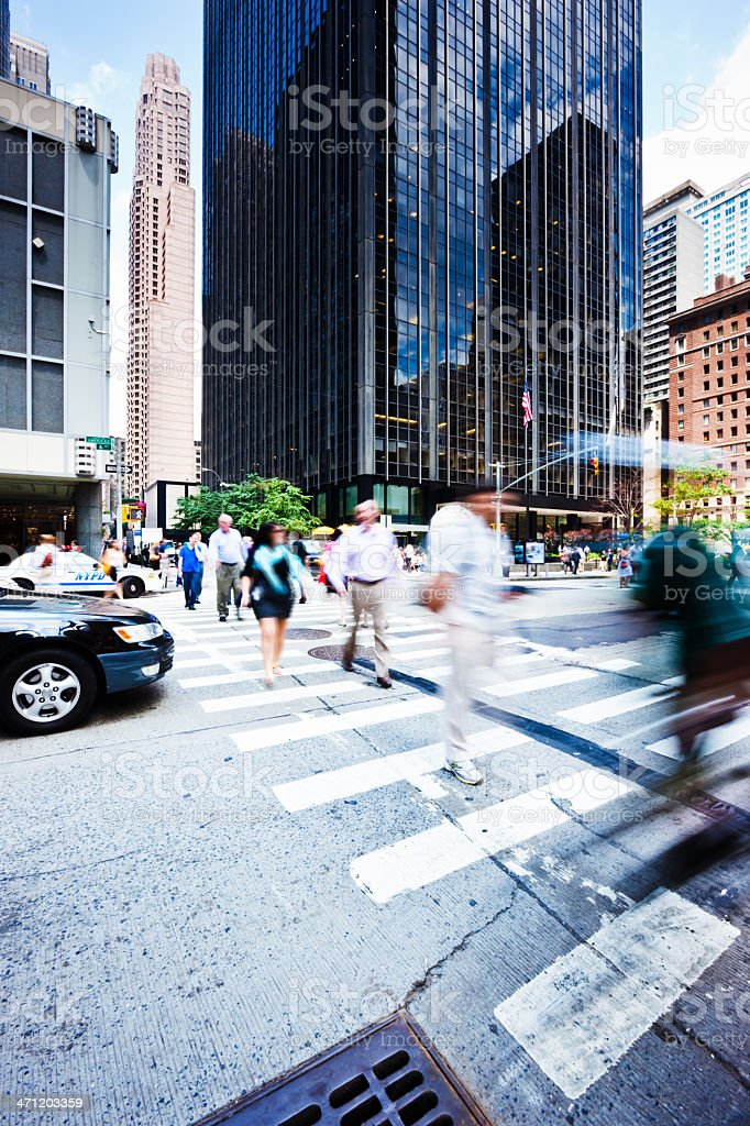 Busy New York City Urban Street Scene royalty-free stock photo