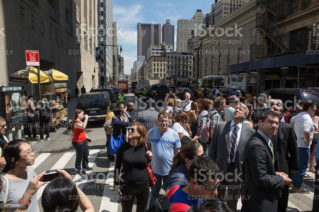 Busy New York Crosswalk royalty-free stock photo