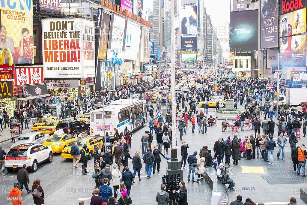 Busy New York stock photo