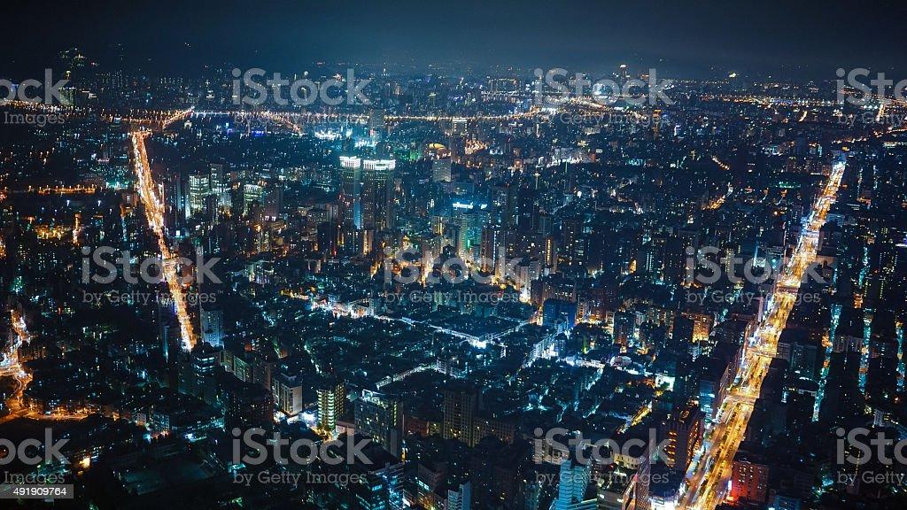 Busy Night City stock photo