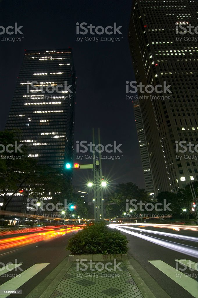 Busy night scene 2 royalty-free stock photo