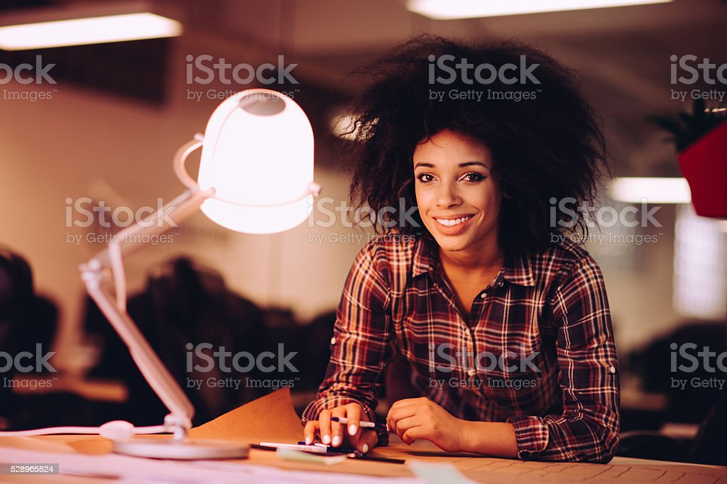 Busy office day stock photo