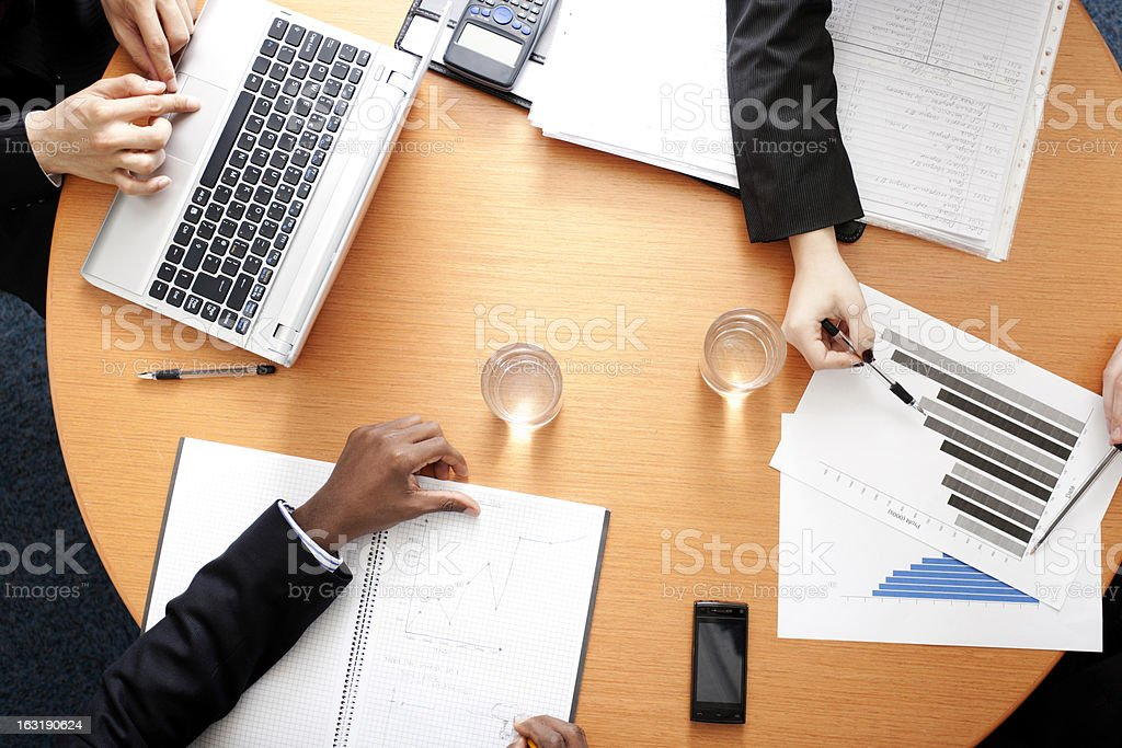 Busy office discussion royalty-free stock photo