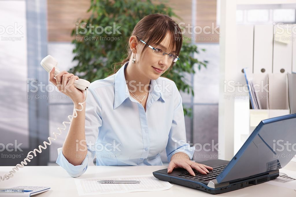 Busy office worker royalty-free stock photo