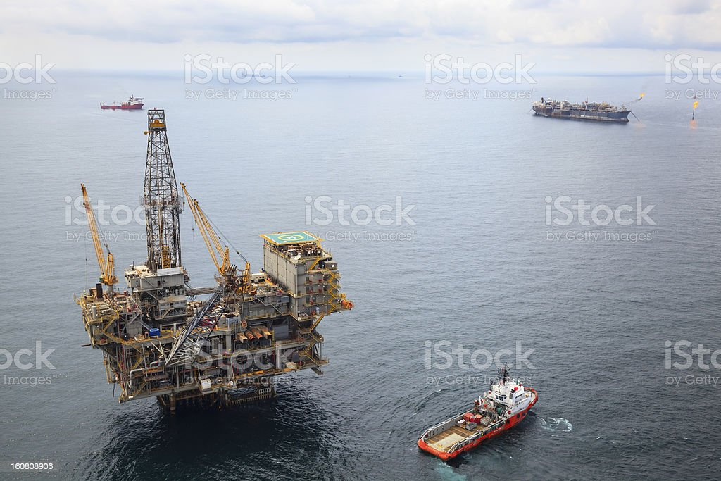 Busy Oil Field royalty-free stock photo