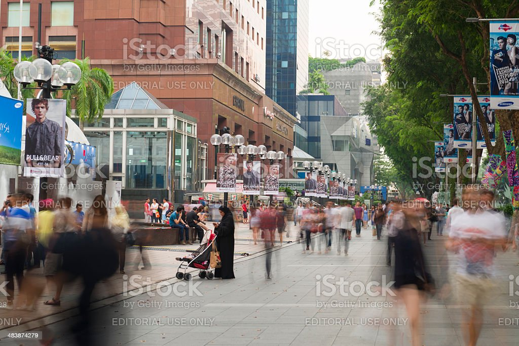 Busy Orchard Road royalty-free stock photo