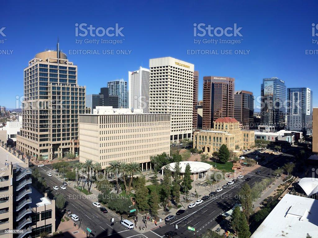 Busy Phoenix Downtown, AZ stock photo
