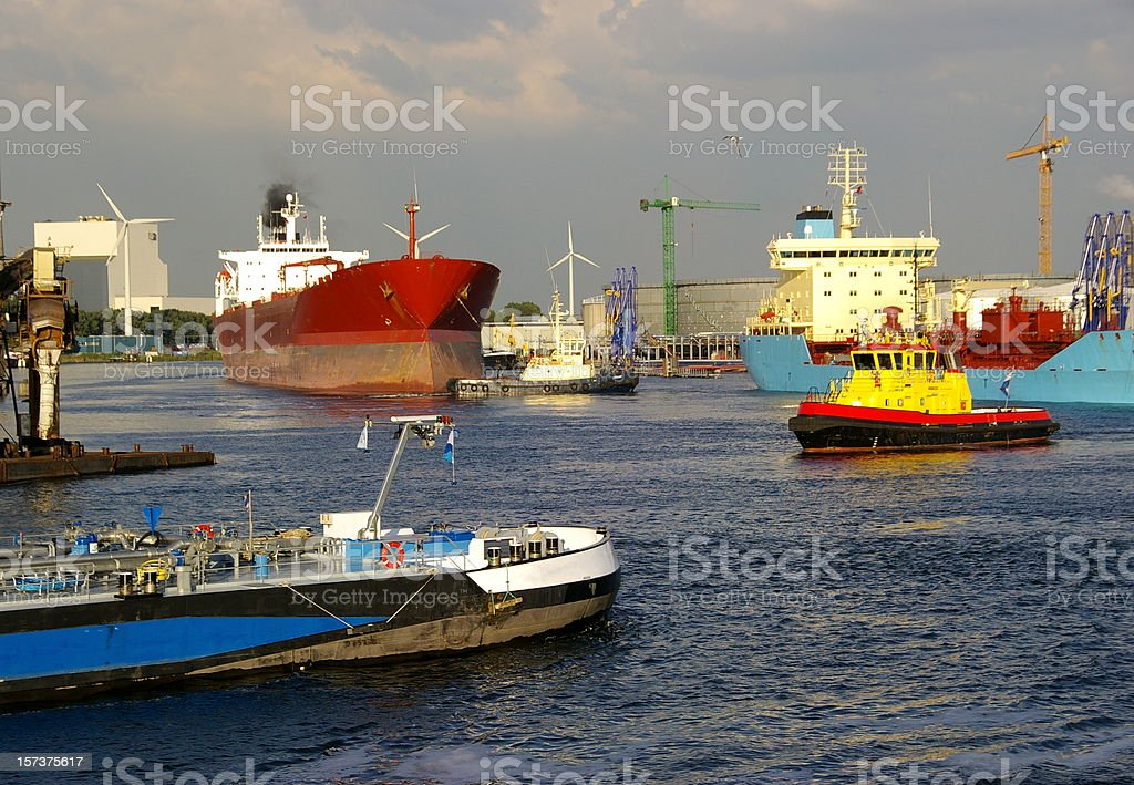 Busy Port royalty-free stock photo