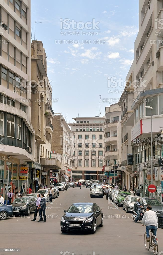 Busy Rabat Street Scene royalty-free stock photo