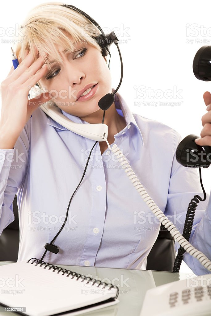 Busy Receptionist royalty-free stock photo