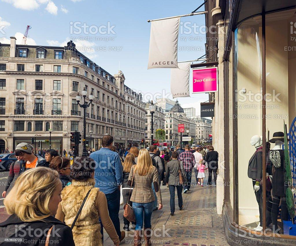 Busy Regent Street in London stock photo