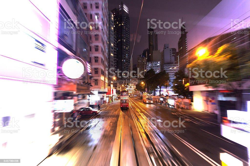 Busy roads in Hong Kong stock photo